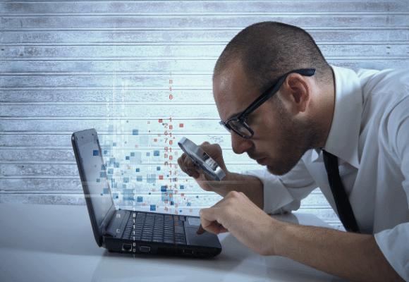 גניבת נתונים, חיפוש קבצים במחשב